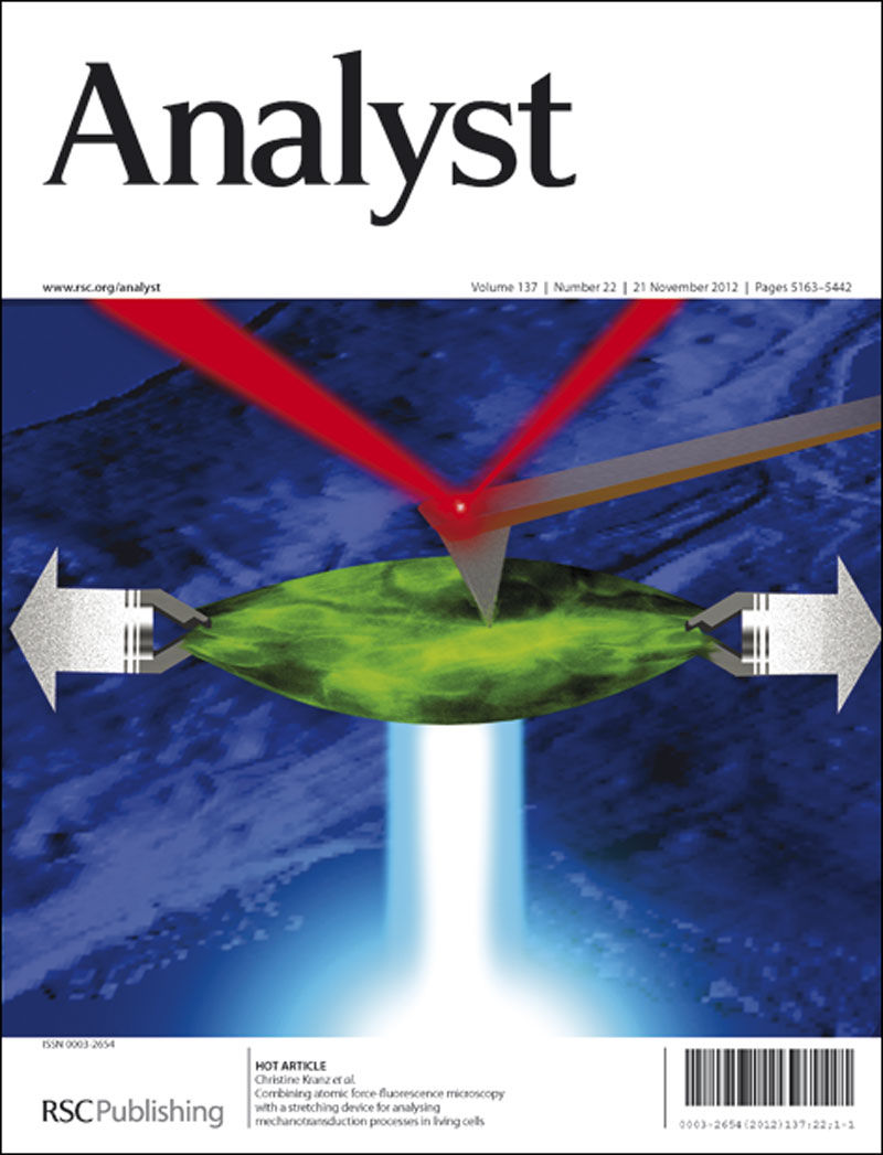 Combining atomic force-fluorescence microscopy with a stretching device for analyzing mechanotransduction processes in living cells
