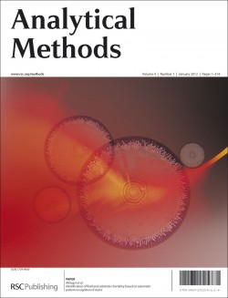 Analytical Methods, 2012, Issue 1 front cover