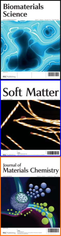 Biomaterials Science, Soft Matter & Journal of Materials Chemistry