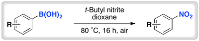 nitration of aryl boronic acids