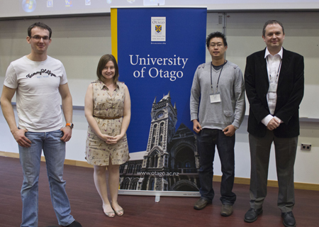The poster prize winners with Professor Phil Gale from the ISMSC-2012 International Advisory Committee