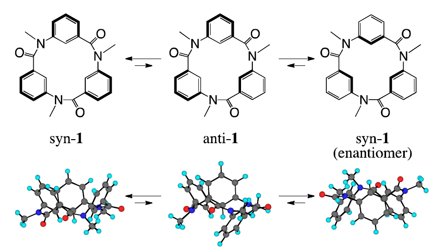 Structure and conformations of cyclic triamide 1