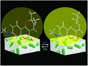 Enhanced photochromism of chromen-based colorants near silver nanorods in sol–gel matrix