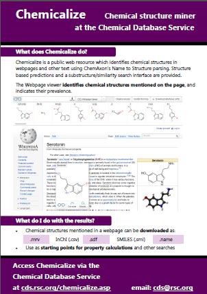 Chemicalize fatsheet