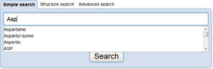 Autocomplete on the ChemSpider homepage