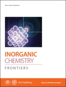 Inorganic Chemistry Frontiers Cover