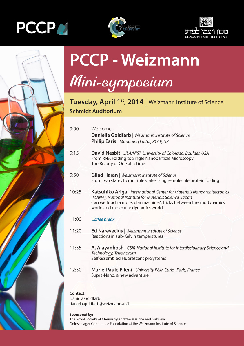 PCCP Weizmann Mini Symposium advert