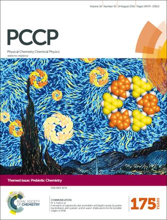 cover image of prebiotic chemistry themed issue