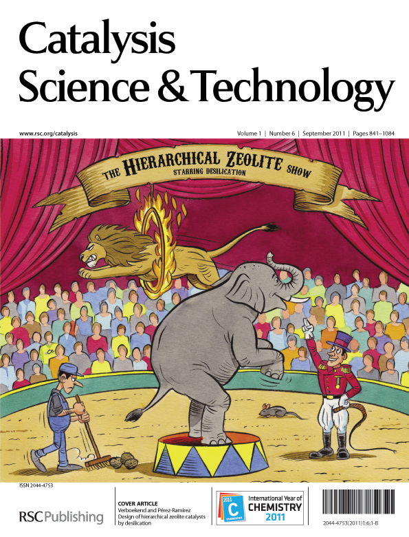The cover of Issue 6, Catalysis Science & Technology
