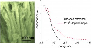 Photocatalytic properties of in situ doped TiO2-nanotubes grown by rapid breakdown anodization