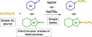 A silver-free system for the direct C–H auration of arenes and heteroarenes from gold chloride complexes
