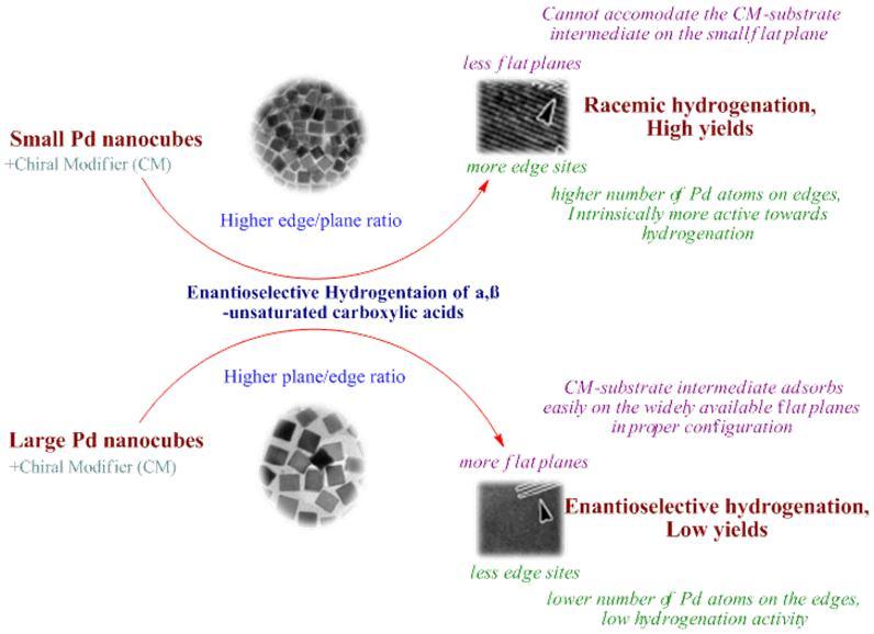 Palladium nanocubes as customizable weapons for enantioselective hydrogenation