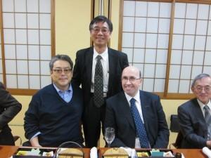 Professors Seiji Ogo, Yoshio Hisaeda, Tsutomu Katsuki and Dr Jamie Humphrey