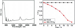 Infrared-light-induced photocatalysis on BiErWO6