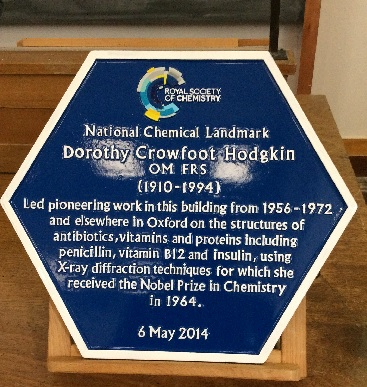 Dorothy Crowfoot Hodgkin plaque
