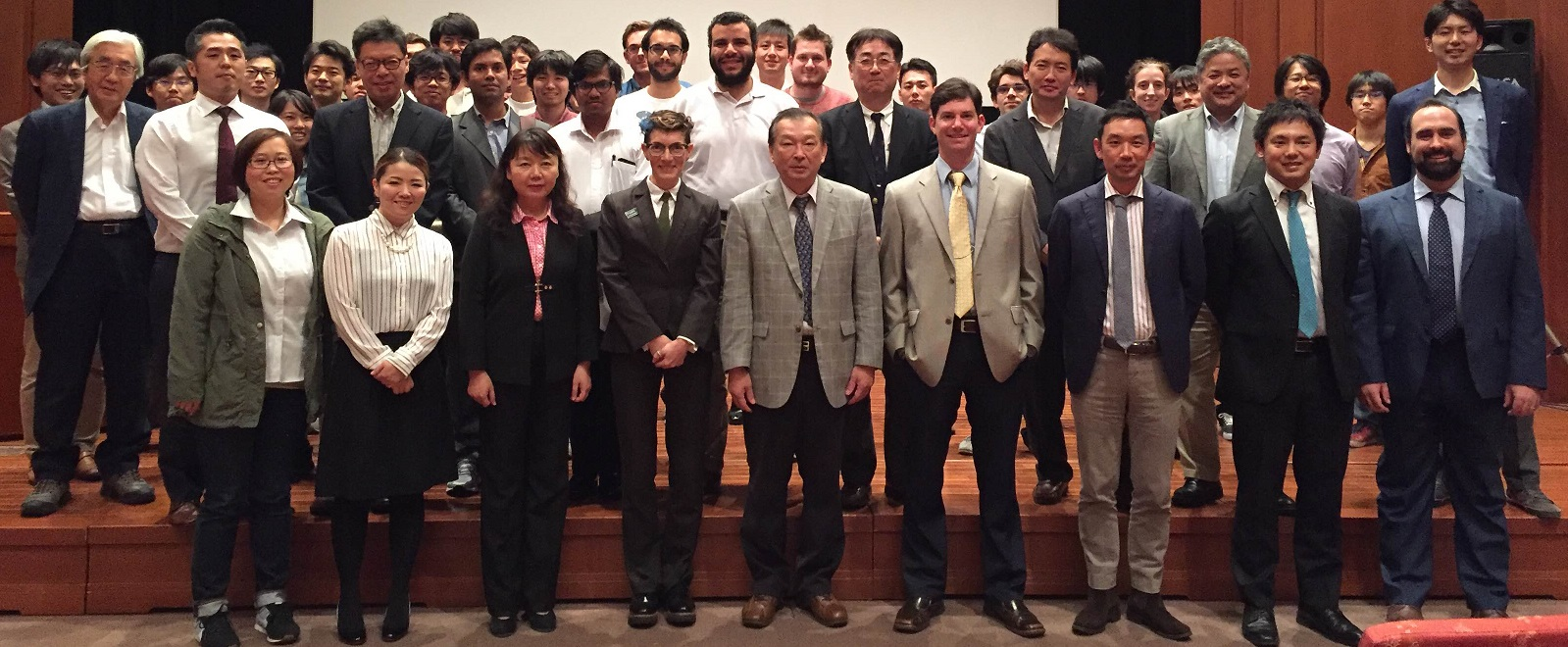 26th October: Osaka University, symposium hosted by Professor Shinobu Itoh (Front row, far right: Dalton Transactions Executive Editor, Andrew Shore. Second row, second left: RSC Japan representative Hiromitsu Urakami)
