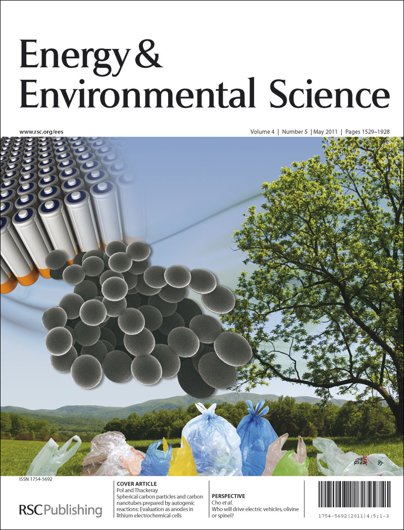energy environmental science issue out now ees blog outside cover