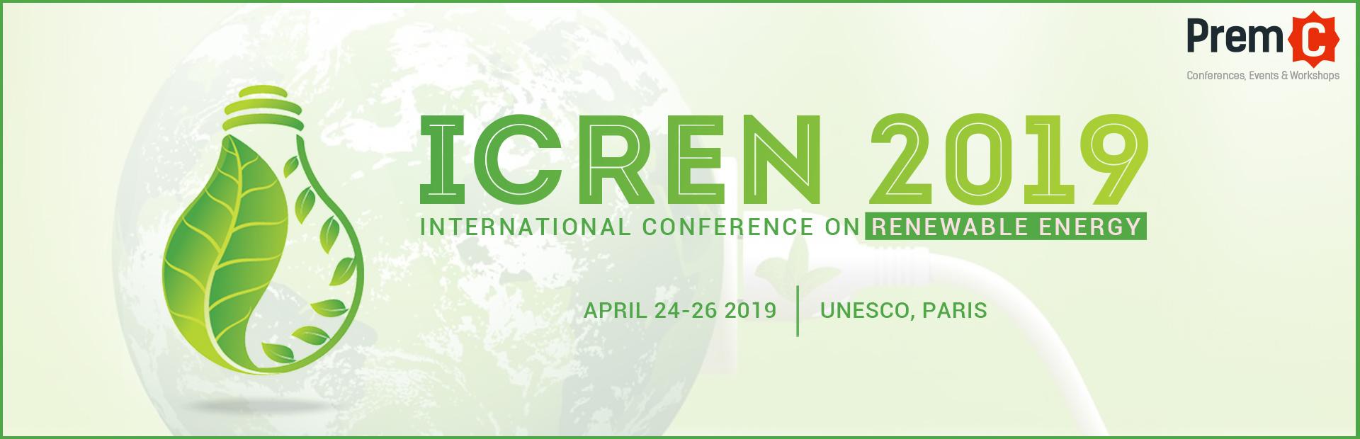 International Conference on Renewable Energy (ICREN 2019) – EES Blog