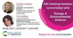 RSC Desktop Seminar Lectureship with EES