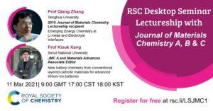 RSC Desktop Seminar Lectureship with JMC A, B & C