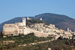 Panoramic view of Assisi (courtesy of Cesare Cenci).