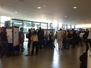 Photograph of the poster session at FD159