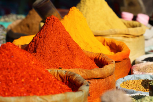 Picture of spices on a market stall - © Shutterstock