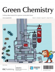 Green Chemistry Volume 13 Issue 8 Front Cover by Itamar Daube