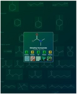 Screenshot of the Green Solvents App for iPad