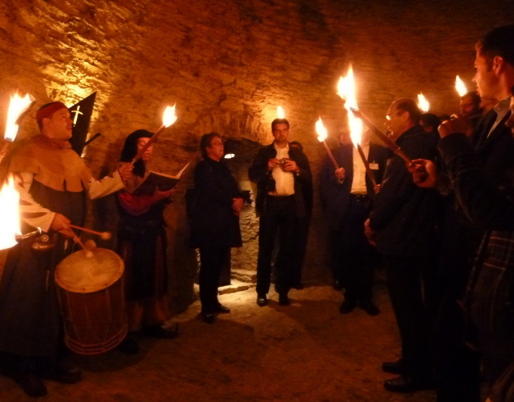 The medieval conference dinner at Castle Ehrenburg