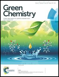 Green Chemistry cover image of a leaf