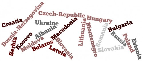 Names of the countries in Central and Eastern Europe (CEE)