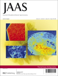 JAAS 2012, Archaeometry themed issue, front cover