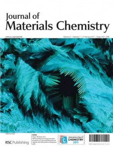 Journal of Materials Chemistry issue 7 outside front cover
