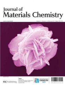 Journal of Materials Chemistry issue 8 outside front cover