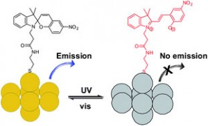 Graphical abstract: Gold nanocluster-based light-controlled fluorescence molecular switch