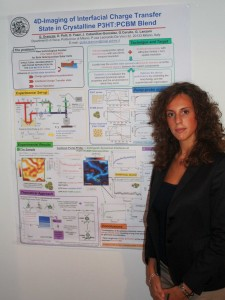Giulia Grancini with her winning poster