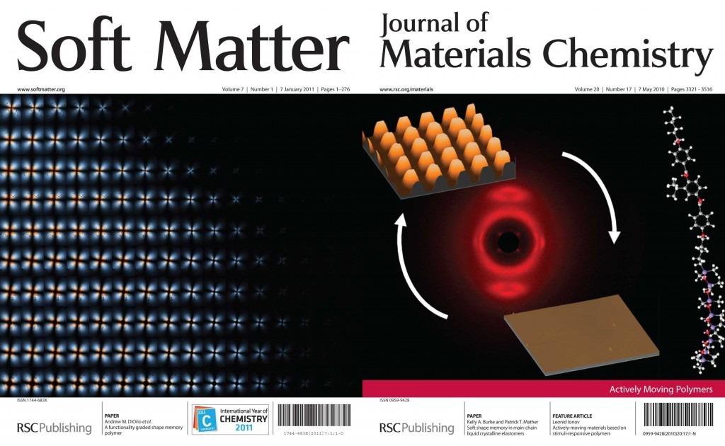 Soft Matter and Journal of Materials Chemistry front covers