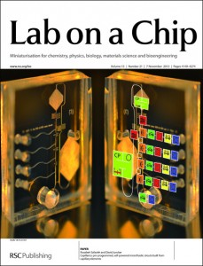 Lab on a chip - Magazine cover