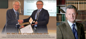 2018 & 2019 BMCS Hall of Fame inductees Professor C Robin Ganellin (2018) and Sir Simon Campbell CBE (2019)