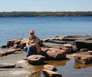 Myself on the rocky shore of Georgian Bay
