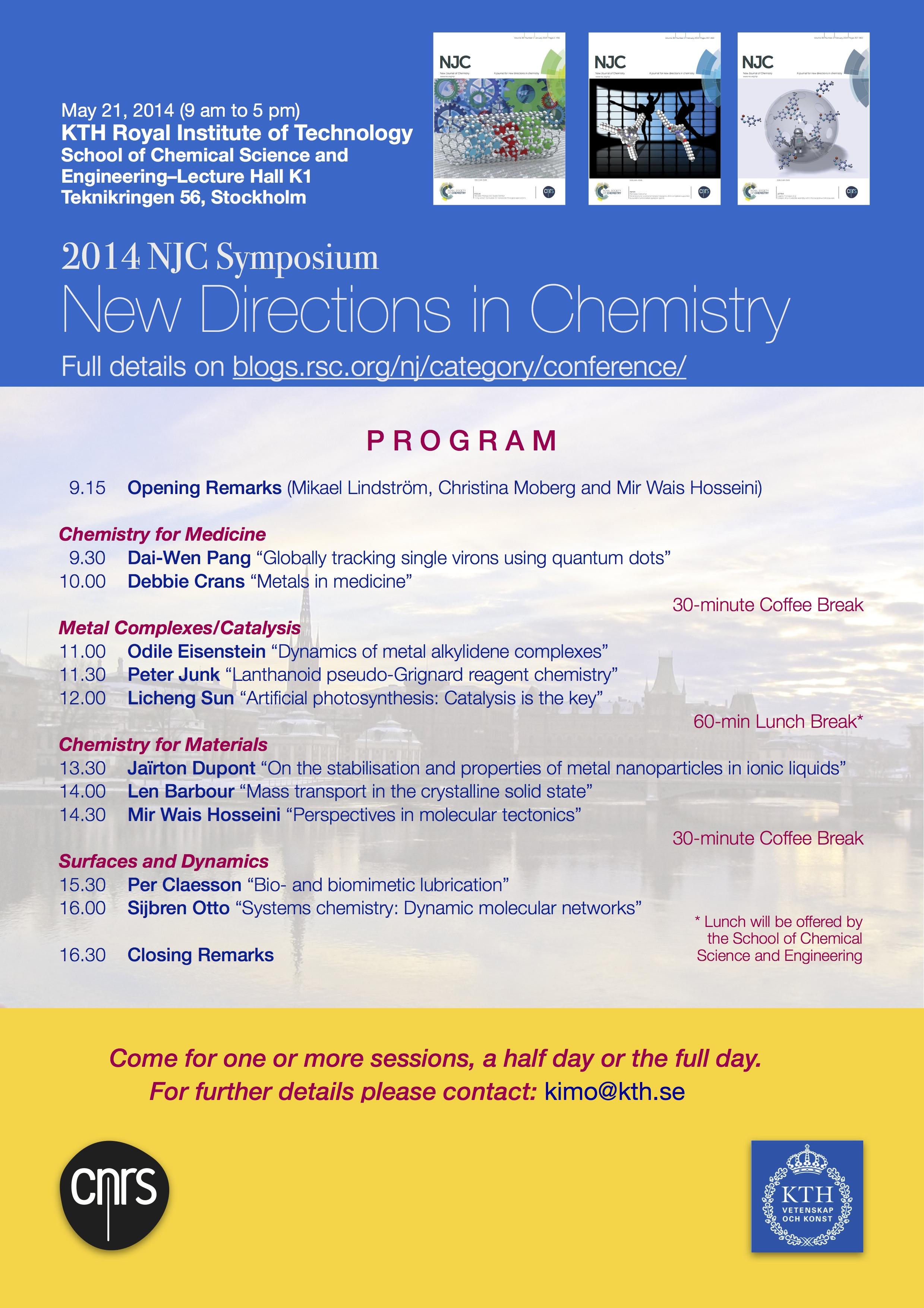 NJC Symposium at KTH on May 21, 2014
