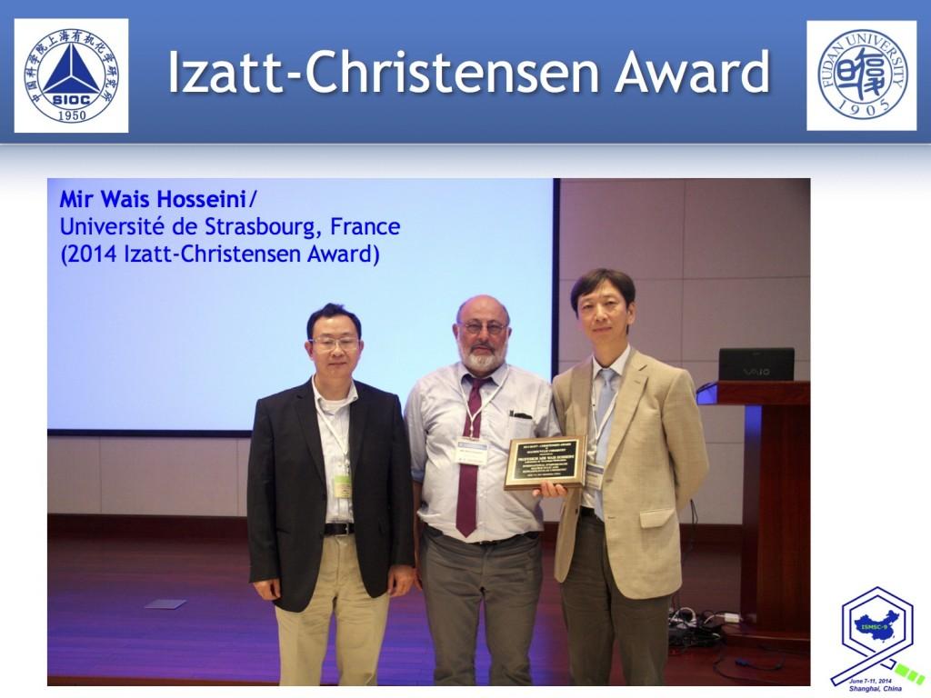 Presentation of the Izatt-Christensen award at the 2014 ISMSC meeting.