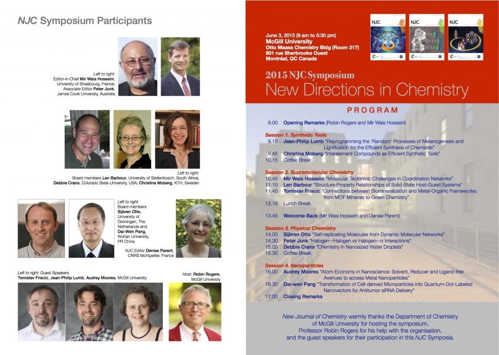 New Journal of Chemistry 2015 Symposium