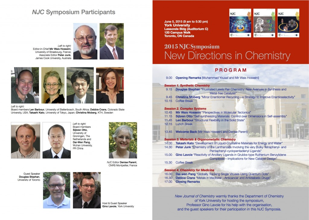 New Journal of Chemistry 2015 Symposium