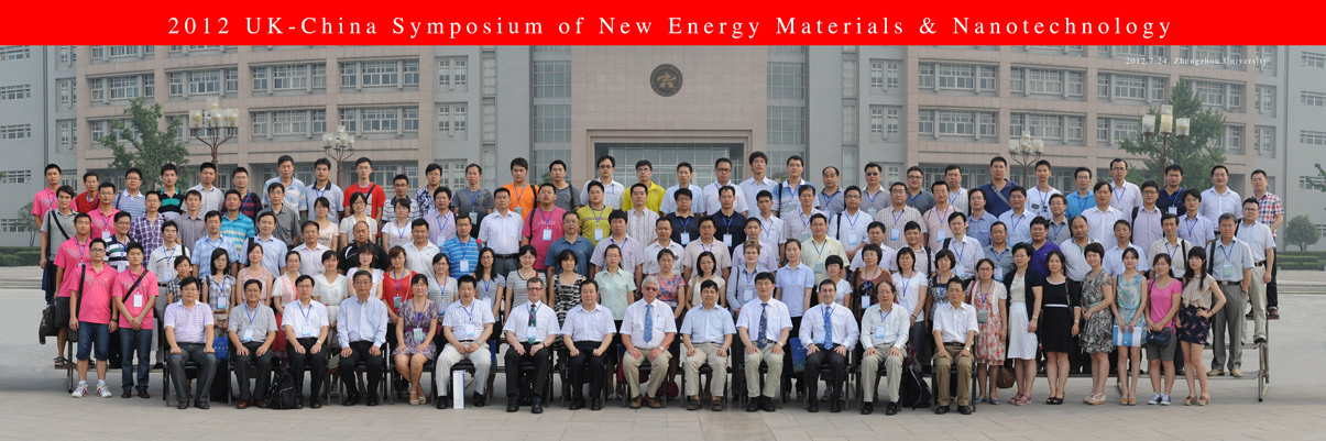 Delegates at the 2012 UK-China Symposium of New Energy Materials and Nanotechnology