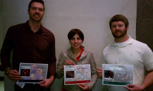Photograph of the three poster prize winners