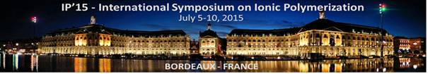 IP'15 - International Symposium on Ionic Polymerization