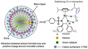 Ru catalyst in surfactant system