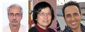 Professors Guru Row, Suning Wang and Marcos Eberlin